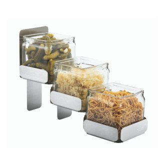 3 Glass Jars with Stand