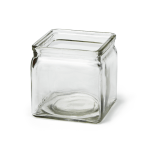 Clear Glass Square Jar