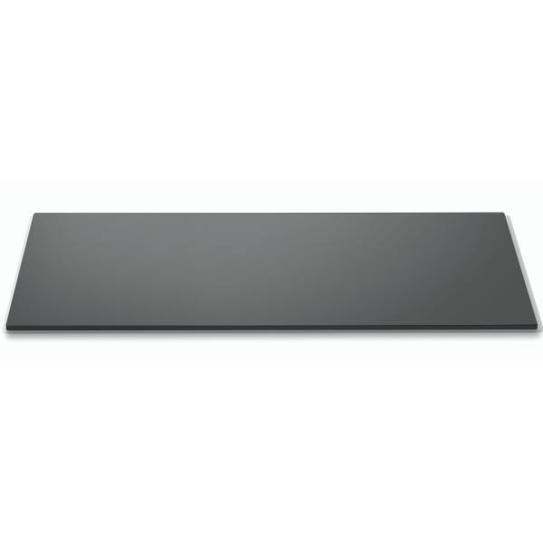Wide Rectangle Black Tempered Glass surface