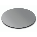 Round surfaces Black Tempered Glass