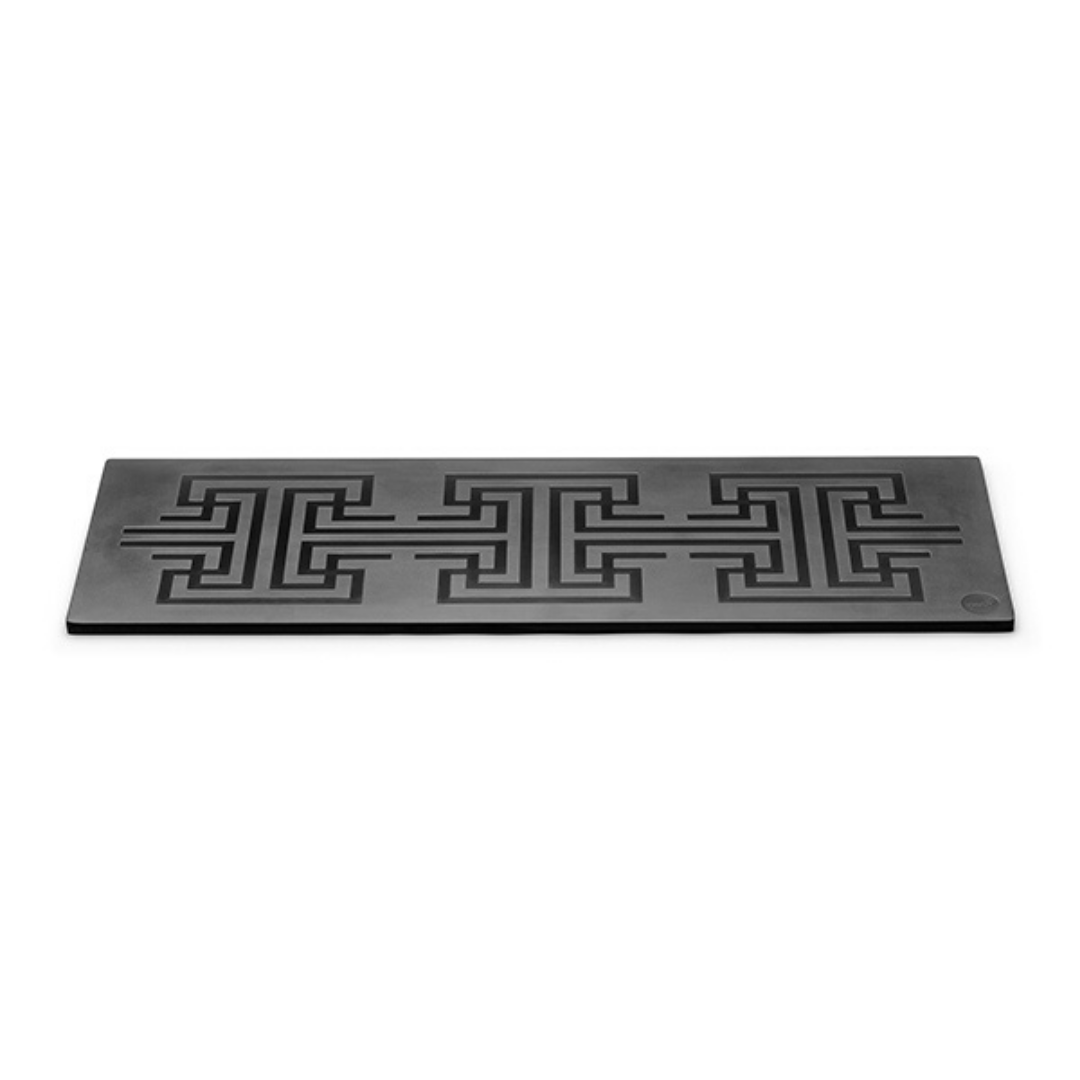 Rectangle Patterned Melamine for buffet equipment – black