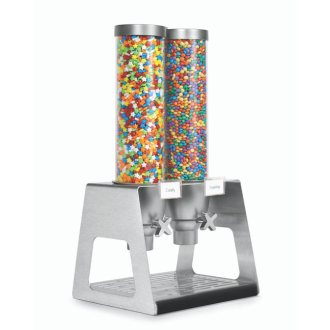 EZ-Serv Double Dispenser 1.3 Gal Stainless Steel, Acrylic Catch Tray