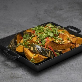Melamine Rectangular Deep Dish With Handles Zen Black