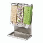 Food Dispenser Stainless Steel Triple Container