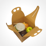 Takeaway Lunch Box easy to present food for events, hygienic food presentation