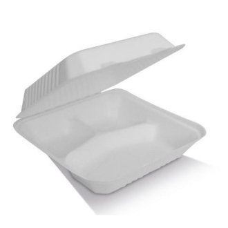 9″ Clamshell 3 Compartments Container