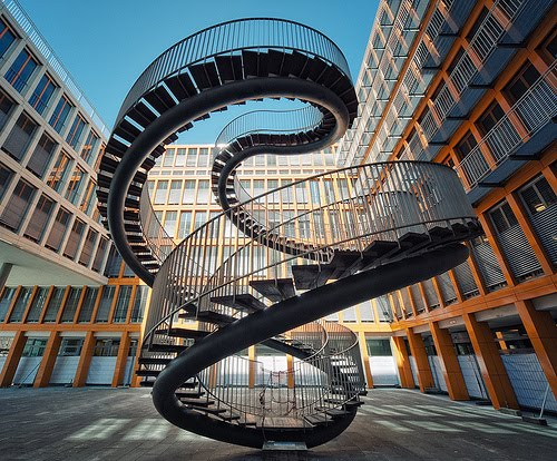 Photo by Philipp Klinger - could be the endless Google Stairway