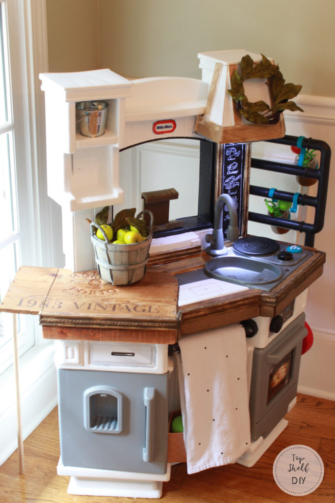 The Wine Crate Files Add A Drop Leaf Table To Your Little Tikes Kitchen Top Shelf DIY