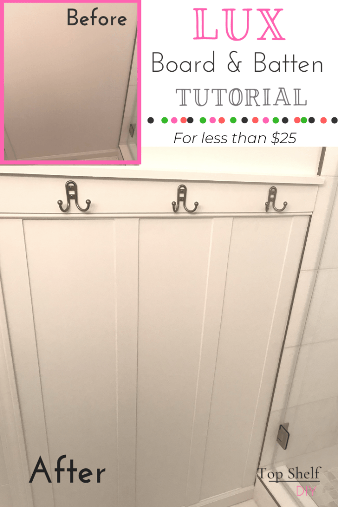 Love the Board and Batten look but don't want to rip out your baseboards? Here's how I pulled off the look for minimal cost.