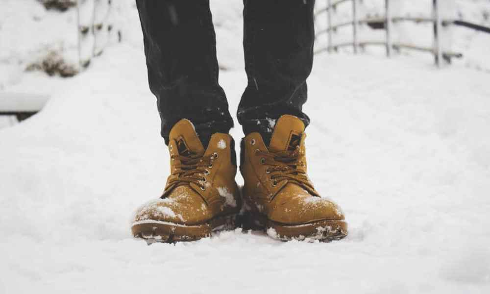 Leather Boots In Snow