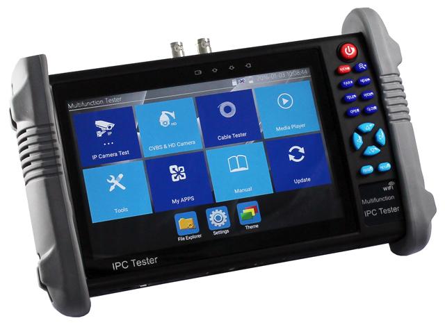 7 inch multifunction IPC tester Monitor with AHD TVI CVI CVBS