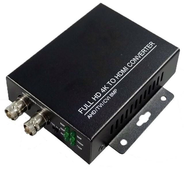 8MP 4K AHD/TVI/CVI to HDMI Converter