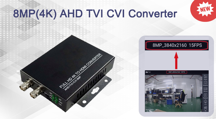 8MP(4K) AHD TVI CVI to HDMI Converter
