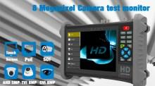8 Megapixel AHD TVI CVI camera tester monitor