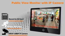 10.1-inch PVM public view monitor with Onvif IP camera