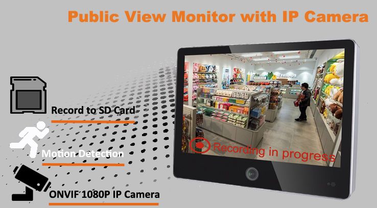 """AN-300IPM10 / 10 1"""" public view PVM monitor with IP Camera"""