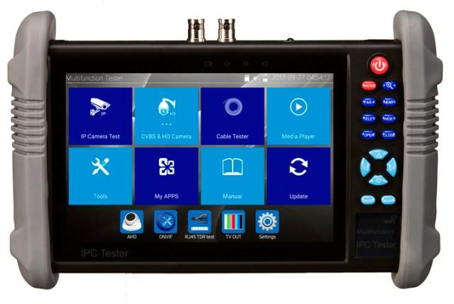"""7"""" Multifunction CCTV Tester Monitor for IP AHD TVI CVI Cameras"""