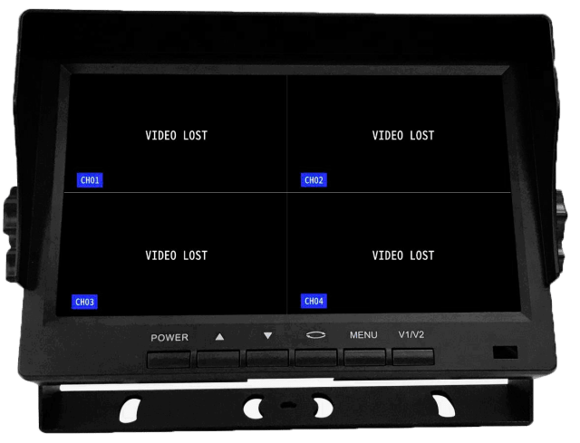 Quad Monitor with SD card recorder