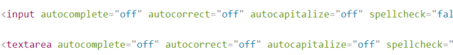 input form attributes