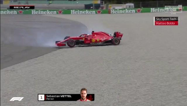 Vettel out Parabolica