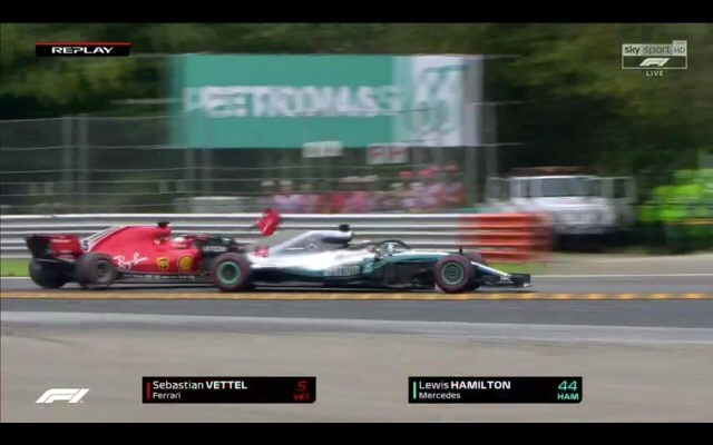 Il crash Vettel Hamilton