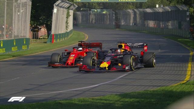 Verstappen attacca e passa Vettel