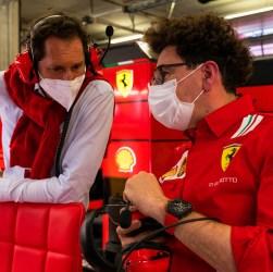 Ferrari Austrian Gp Elkann e Binotto ai box