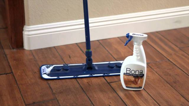 How to clean the hardwood floor?