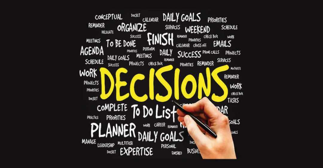 besluiten nemen in drukke periodes