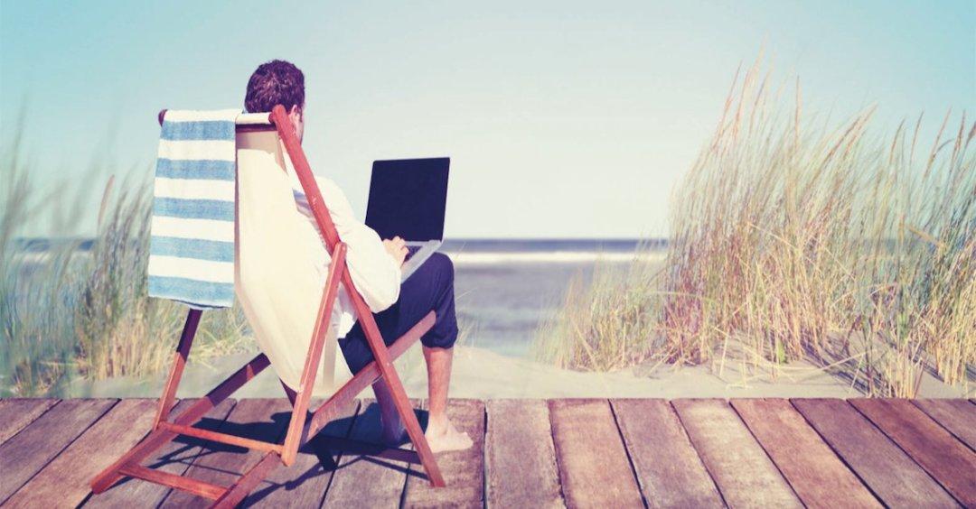 offline op vakantie