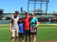 Family at Safeco Field