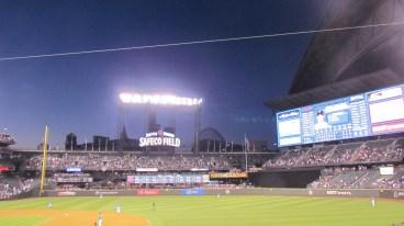 Safeco Field at night