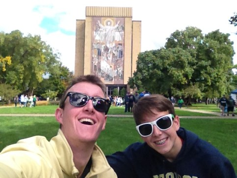 Joe and me at Notre Dame