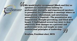 Motivational Speaker Testimonial