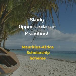 MAURITIUS–AFRICA SCHOLARSHIP SCHEME 2020  CALL FOR APPLICATIONS
