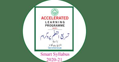 12th Class ALP New Smart syllabus 2020-21