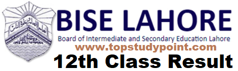 BISE Lahore 12th Class Result