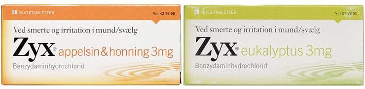 Zyx halstabletter - Appelsin+Eukalyptus