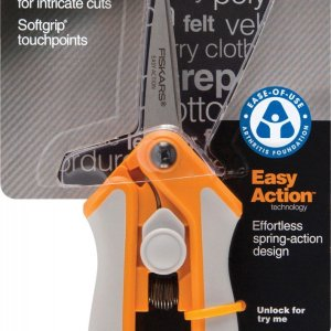 Fiskars® 5-Inch Easy Action Micro Tip Scissors