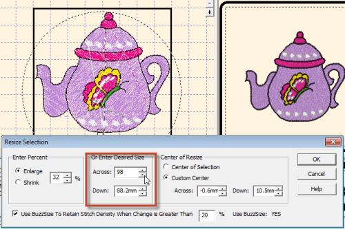 Buzz Tools BuzzSize Embroidery Design Resizing Software