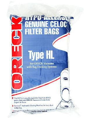 Oreck HB8PKOH Edge HEPA Odor Fighting Vacuum Cleaner Bags