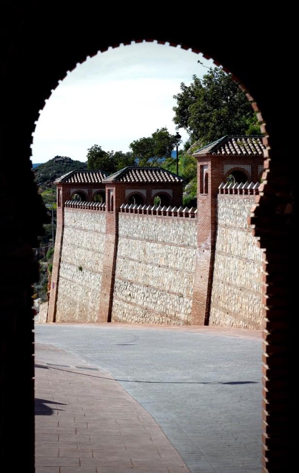 Entrance gates to Comares, Andalucia