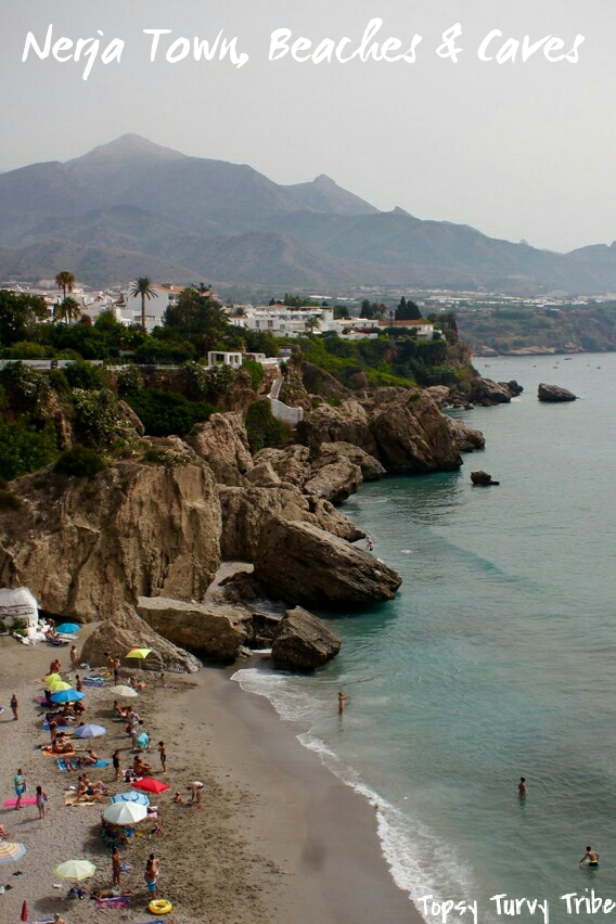 Nerja Town,  Beaches,  Caves.  Malaga, Andalucia, Spain
