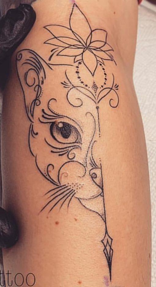 As 100 Melhores Tatuagens de Gatos da internet! - Top Tatuagens