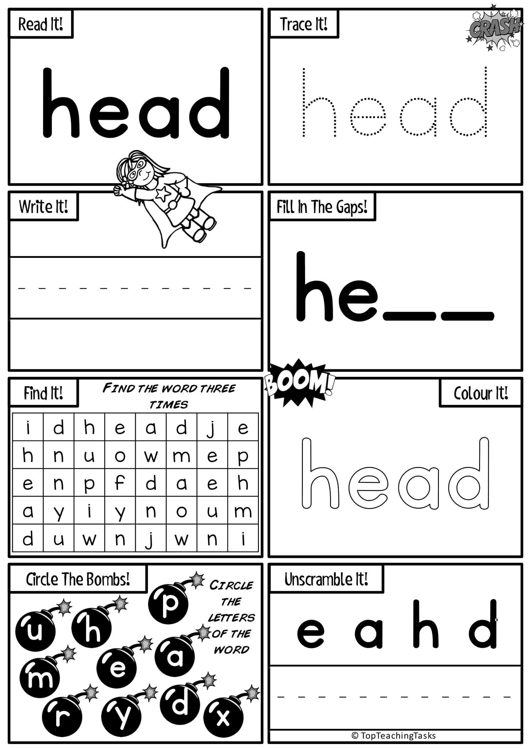 Sight Words Activity Worksheets Volume Two