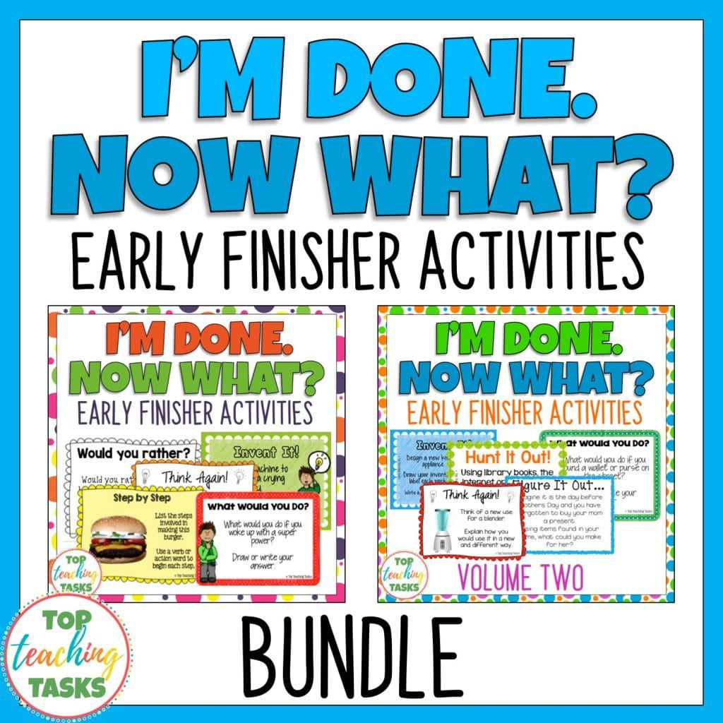 Four Must Haves Of Early Finishers Activities
