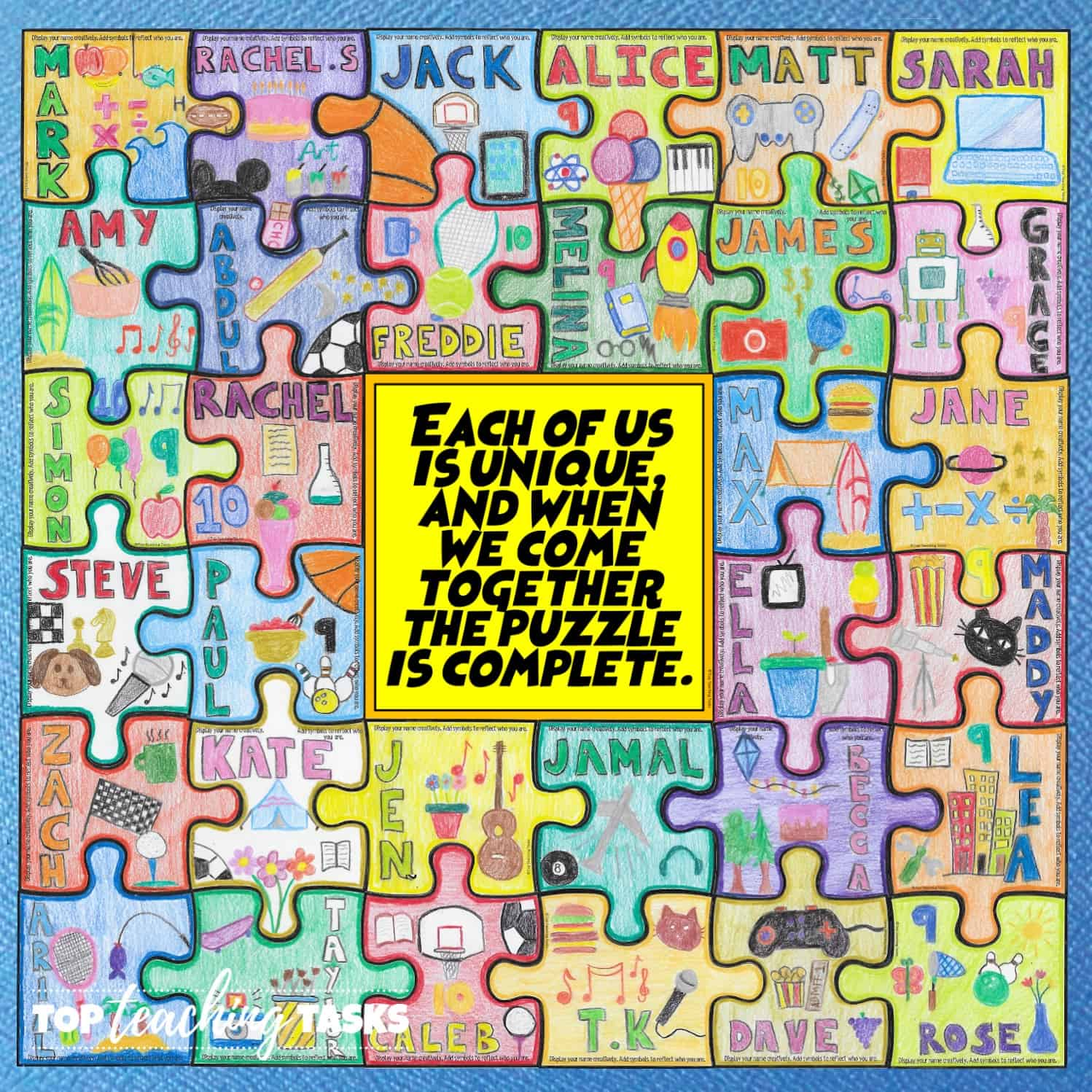 Getting To Know You Collaborative Puzzle