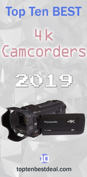 top ten best 4k camcorders 2019 pin - 10 Best 4k Camcorders 2019