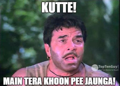 Kutte! Main tera khoon pee jaunga!- Best Hindi Movie Dialogues