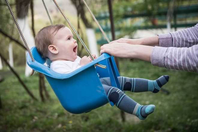baby swing in the plane